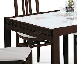 dining table wenge by esf wfolding frosted glass top