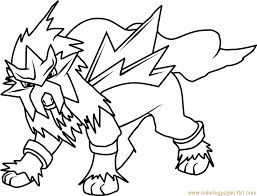 pokemon coloring pages entei
