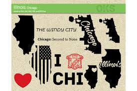 These are the 10 towns across illinois that have decorations, activities and a certain je ne sais quoi canton, illinois really knows how to get into the christmas mood, with tons of lighted trees, trolley. Illinois Chicago Vector Graphic By Crafteroks Creative Fabrica