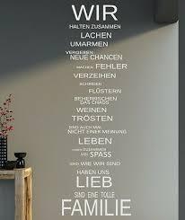 Wandtattoo Xxl Spruch Wir Familie Wandaufkleber Wohnzimmer Sprüche 140x40cm B339