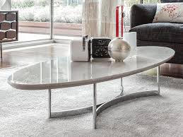 elegant oval coffee table in white