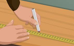 this picture shows you how to measure side pieces for your diy closet organizer