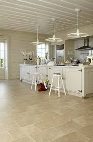 Limestone Flooring In Kitchen Kitchen Breathtaking White Kitchen Design With Cream Stone