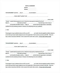 Simple Apartment Lease Agreement Basic Apartment Lease Agreement