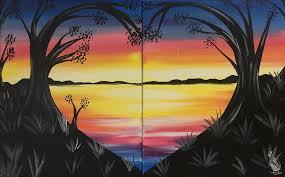 date night lovely lake sunset set