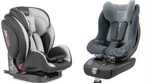 Las dos sillas que no han superado el test de impacto frontal, la Giordani  Evolution