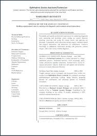 Ophthalmic Assistant Resume Stunning Ophthalmic Assistant Resume Nmdnconference Example Resume