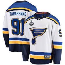 Breakaway Fanatics Bound Player Louis Cup White Blues Away Stanley Vladimir 2019 Final St Branded Tarasenko Jersey -