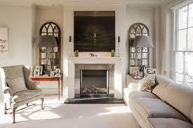 mirror wall decoration ideas living room transitional with soft grey sofa wall art soft grey sofa