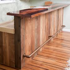 Wood Bar Top Bar Railing Ideas Home Bar Rustic With Wood Bar Top Rustic Wood
