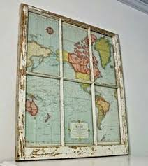 old window frame free printable vintage map u003d instant wall art
