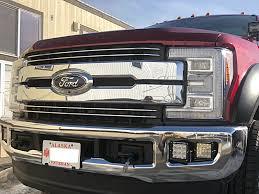 Dual Fog Lights 2017 Ford Super Duty Dual Fog Light Brackets