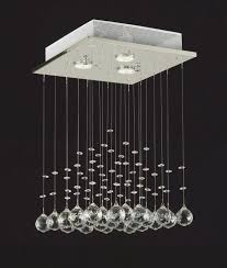 saint mossi modern crystal raindrop chandelier lighting flush mount