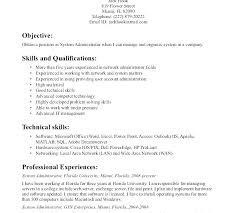 Network And Computer Systems Administrator Sample Resume Simple Systems Administrator Cover Letter Junior Network Administrator