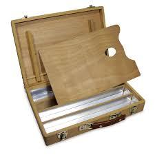 wooden oil paint box