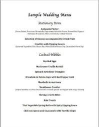 Wedding Meal Planner Chef Services Menu Planning
