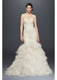 beaded mermaid wedding dress with tulle skirt david s bridal