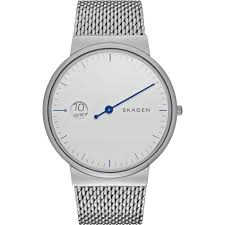 skagen men s ancher mono silver steel bracelet watch skw6193 skagen men s ancher mono silver steel bracelet watch skw6193