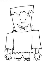 Frankenstein Coloring Page For Halloween