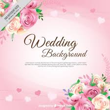 Realistic Roses With Leaves Wedding Background Vector Free Download