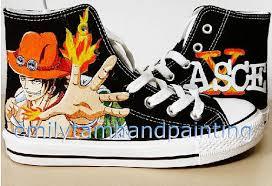 Ace #sabo #trafalgar law #roronoa zoro #sanji. Sneakers Di Vernice Personalizzata A Mano Scarpe Di Tela Dipinto Un Pezzo Portuguese D Ace Per I Fan Di One Piece Sneaker Sneakers Scarpe