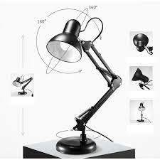 Đèn bàn học đèn để bàn đèn làm việc đèn kẹp bàn kim loại hiện đại - Đèn bàn  Nhãn hàng No brand