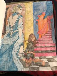 mare barrow apprehended in the red queen coloring book