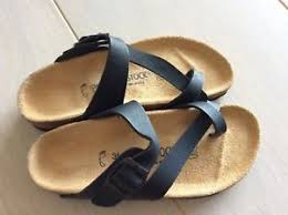 birkenstock size 36 new birkenstock black toe loop slide comfort sandals size 36 l7m5 ebay