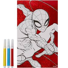 Coloriage spiderman à imprimer 149. Spiderman 3 Coloring Poster With Markers 2ct Party City