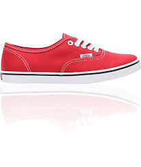 red vans shoes for girls. vans authentic lo pro red shoes for girls y