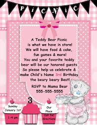 Digital Teddy Bear Picnic Invitation Template Pinteres On Designs ...