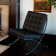 pavilion black leather modern accent chair – nhmodern