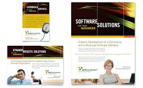 Internet Software Flyer Ad Template Word Publisher
