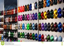 Car Metallic Paint Samples Stand With Examples Of Glowing