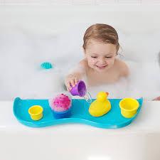 shelfie bath toy organizer bath shelf aqua blue b00kqnlaj6