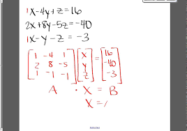 inverse matrix method to solve a system of equations a 1 b