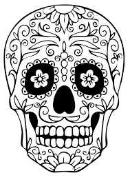 Skull Coloring Pages For Developing Knowledge