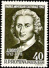 jean jacques rousseau  jean jacques rousseau on a r ian stamp 1962