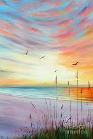 sunset at the beach painting st pete beach sunset by gabriela valencia