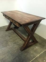 desk farmhouse desk rustic desk x desk by wolfcreekcarpentry more wood home office desk with