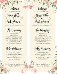 Christmas Program Templates 710 Wedding Program Customizable Design Templates