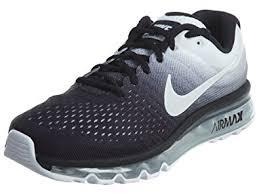 nike running shoes black air. nike men\u0027s air max 2017, black/white, running shoes black