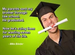 a graduation funny photo with quote