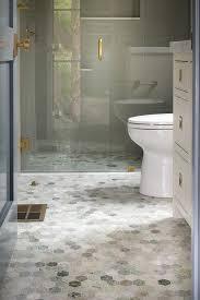 green hexagon bathroom floor tiles
