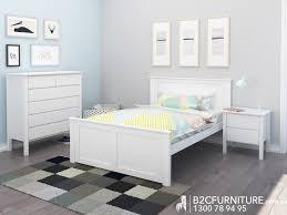 Kids White Bedroom Furniture Dandenong Double Bed Frame White Kids Beds B2c Furniture