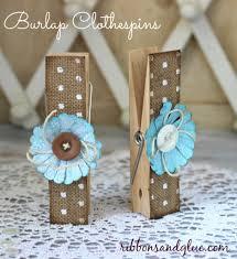 Burlap Crafts How To Make Burlap Clothespins Burlap Craft And Burlap Decorations