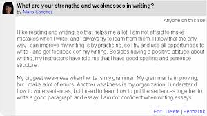strengths and weaknesses in writing essays purchase college  strengths and weaknesses in writing essays