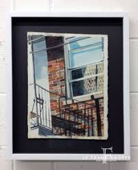 custom framing ideas. Loving The Contrast For This Beautiful Watercolour\u0027s Recessed Frame Design, Between White Moulding And Custom Framing Ideas