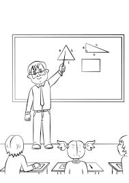 Disegno Di Maestro Di Scuola Da Colorare Disegni Da Colorare E