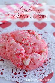strawberry cheesecake cookies